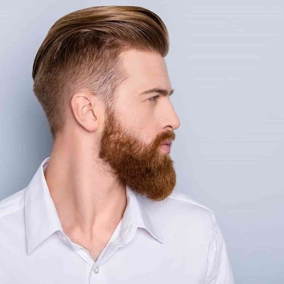 Man Showing Beard