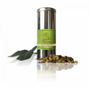 Picture of a metallic jar that contains the Jubilee Herbal Bath Tea