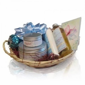 Picture of a beautiful Lavender Spa Gift Basket