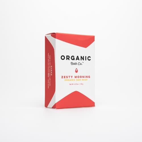 The perfect organic bar soap for a relaxing shower or bath.