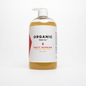 Bottle full of Organic Body Wash