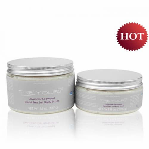 Picture of the Lavender Seaweed Dead Sea Salt Body Scrub in a white background