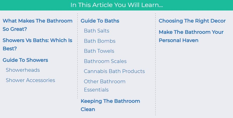 The Ultimate Guide To Bath Essentials 1