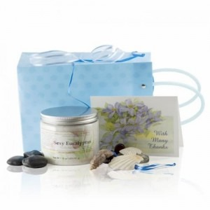The perfect Eucalyptus Dead Sea Salts Gift Basket for a relaxing night
