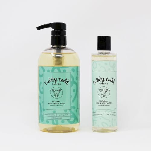 Bottles of Natural Hair and Body Wash