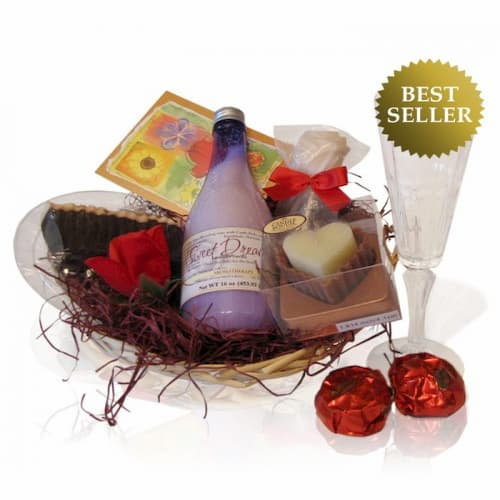 Beautiful Sweet Relaxing Gift Basket For Her