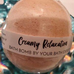 Photo Of Creamy Relaxation bath bomb