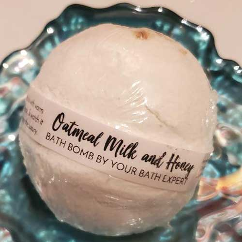 Photo of Oatmeal Milk and Honey Bath Bomb
