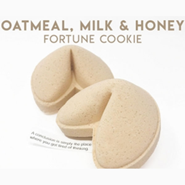 Oatmeal Milk & Honey Fortune Cookie Bath Bomb